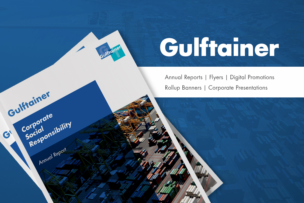 Gulftainer Marketing Collateral Design by Cornerstone