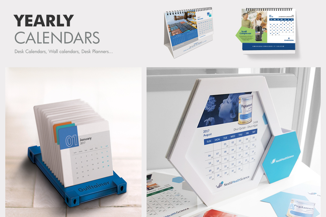 Gulftainer Desk & Wall Calendars by Cornerstone