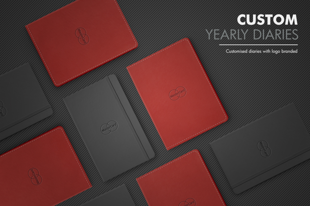 MasterCard Yearly Diaries with Branded Logo by Cornerstone