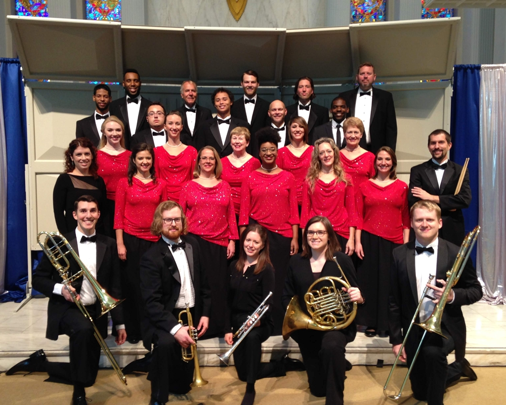 tour members of the 2018 cornerstone chorale and brass