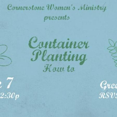 Women's MInistry Container Planting How To