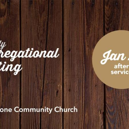 Quarterly Congregational Meeting, Jan 27