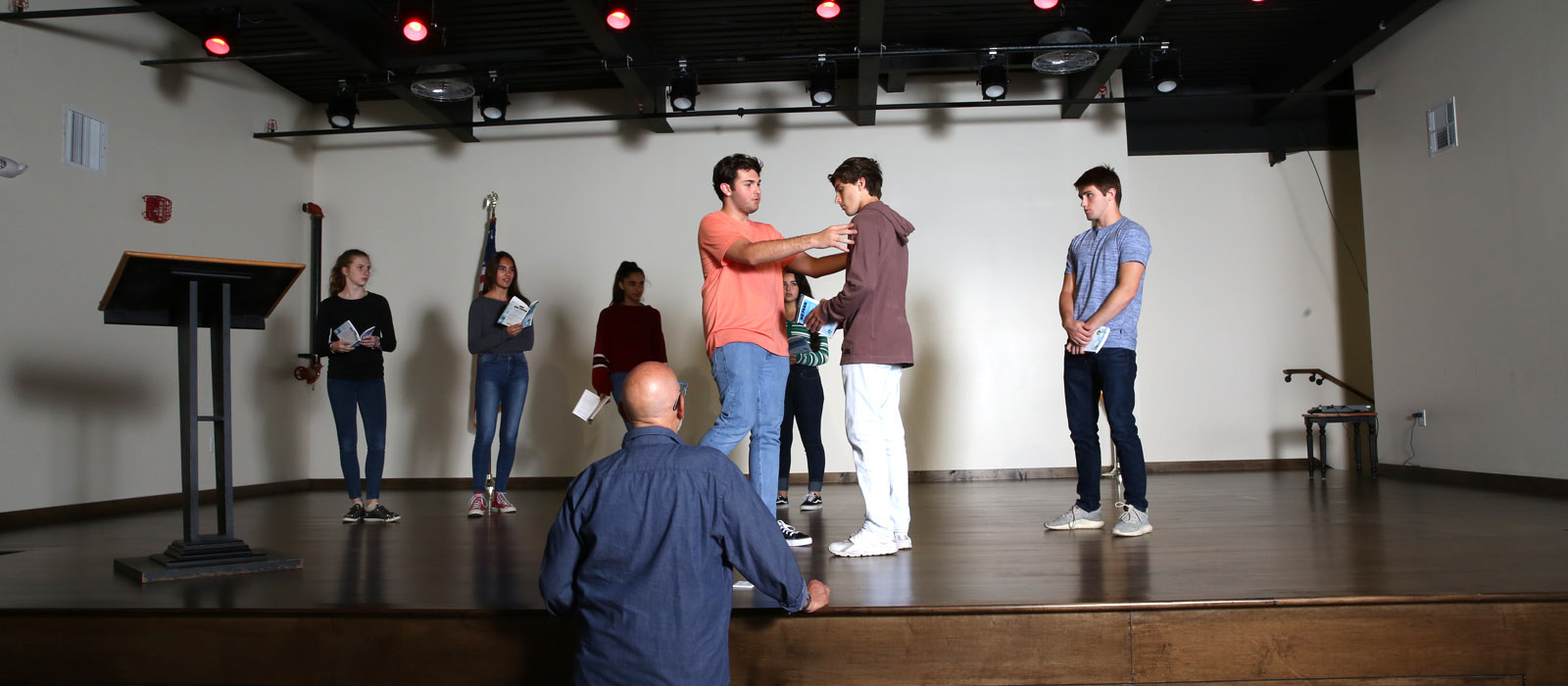 Cornerstone theater rehearsal