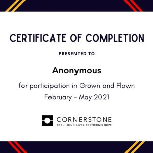 Grown and Flown Certificate