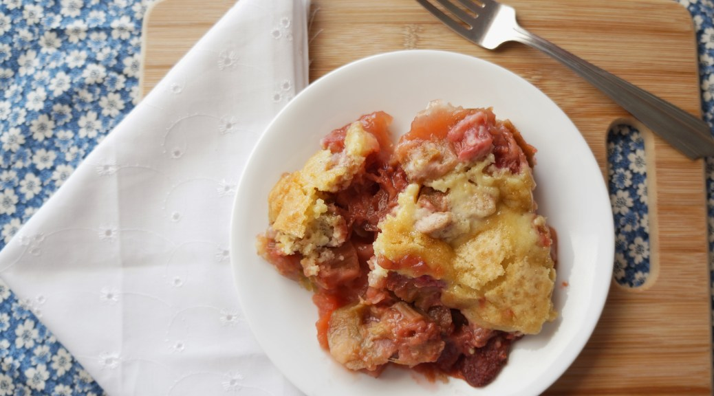 Strawberry Rhubard Cobbler