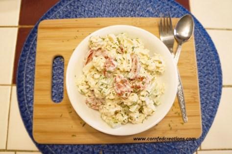 honey garlic ranch pasta salad