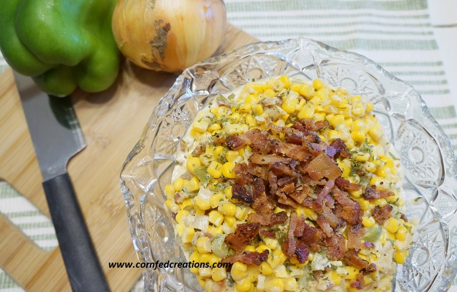creamy southwestern corn with bacon