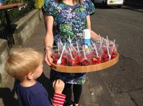 Fruit salad for the street party. Photo by Mary Hutchison