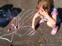 Pavement drawing. Photo by Mary Hutchison