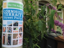 Poster for Cornhill Terrace Street Party 2016. Photo by Mary Hutchison