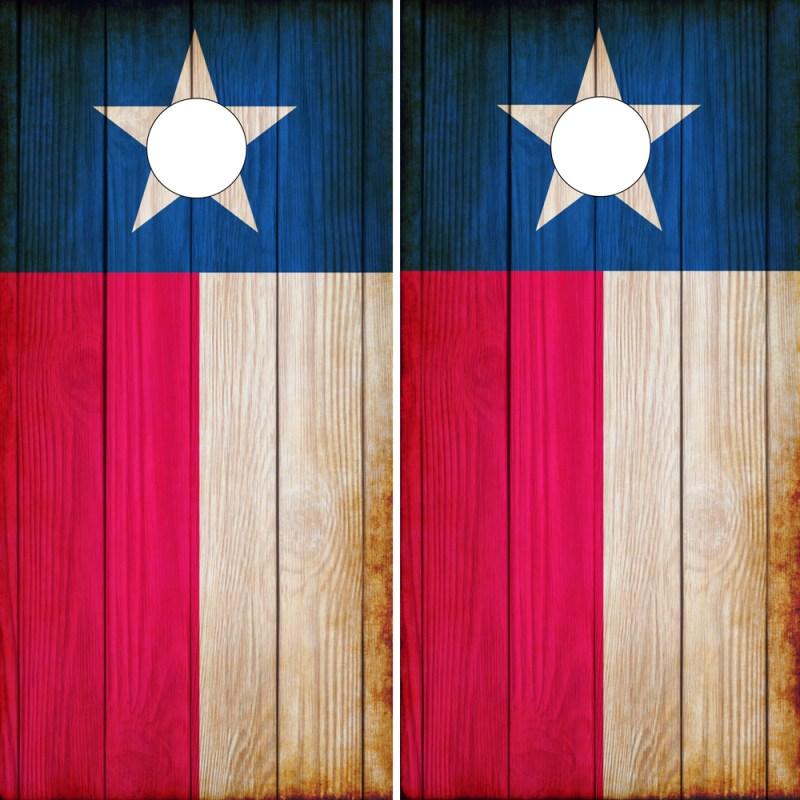 Texas Flag Cornhole Wraps