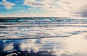 Low-Tide-Reflections---Oil-on-Canvas--40-x-60-cm-