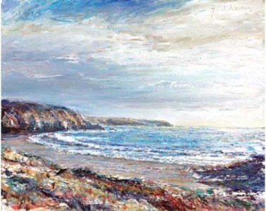 Second Beach, Kennack Sands  405mm x 505mm, oil on linen,