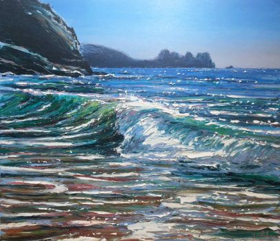 Porthcurnoe Surf by Andrew Giddens