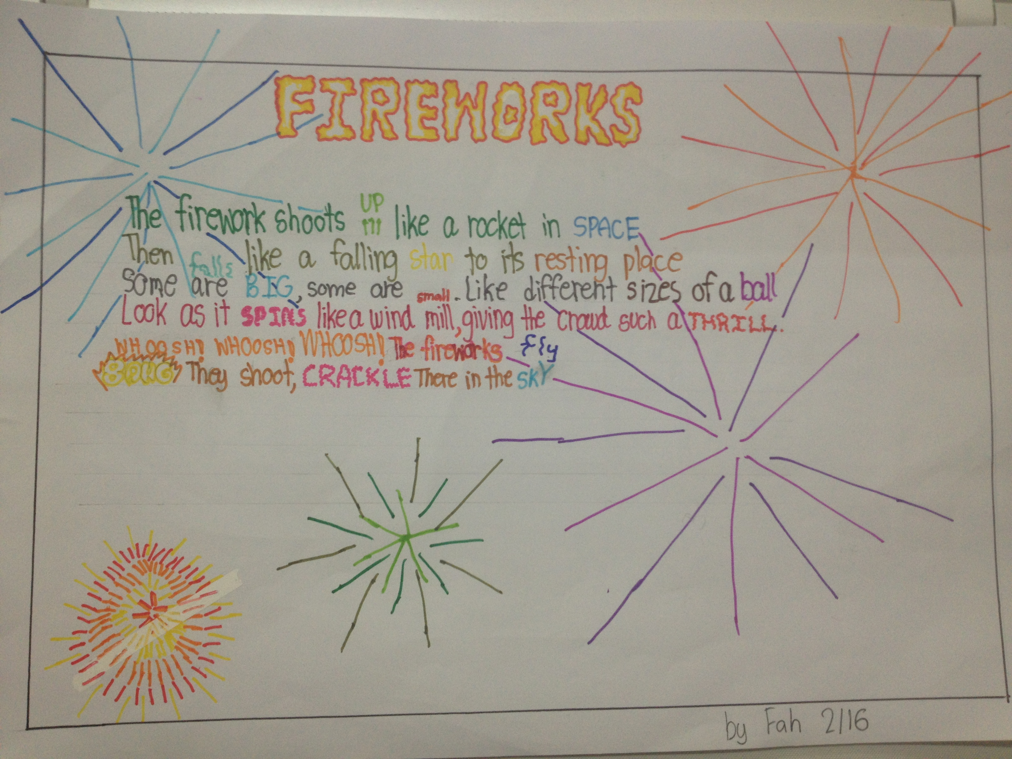 In My Classroom Onomatopoeia Part 2 Fireworks