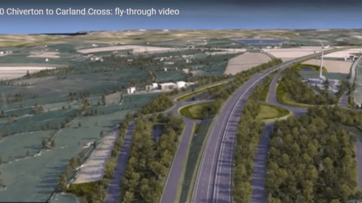 Video of A30 Carland Cross to Chiverton Upgrade - fly over the new road