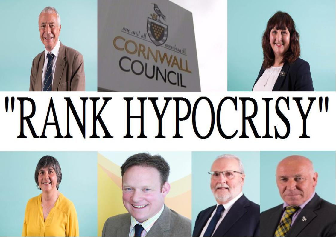 'Rank Hypocrisy' of Cornwall Council Leaders