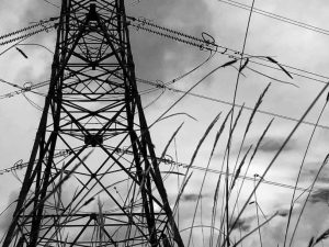 Pylons across Goss Moor