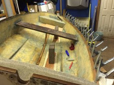 Transom, floor pads and gunwhale