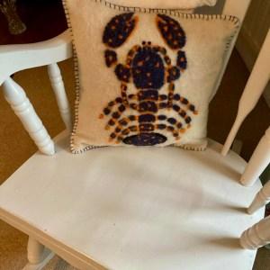 Handmade by Julie Cushion - lobster