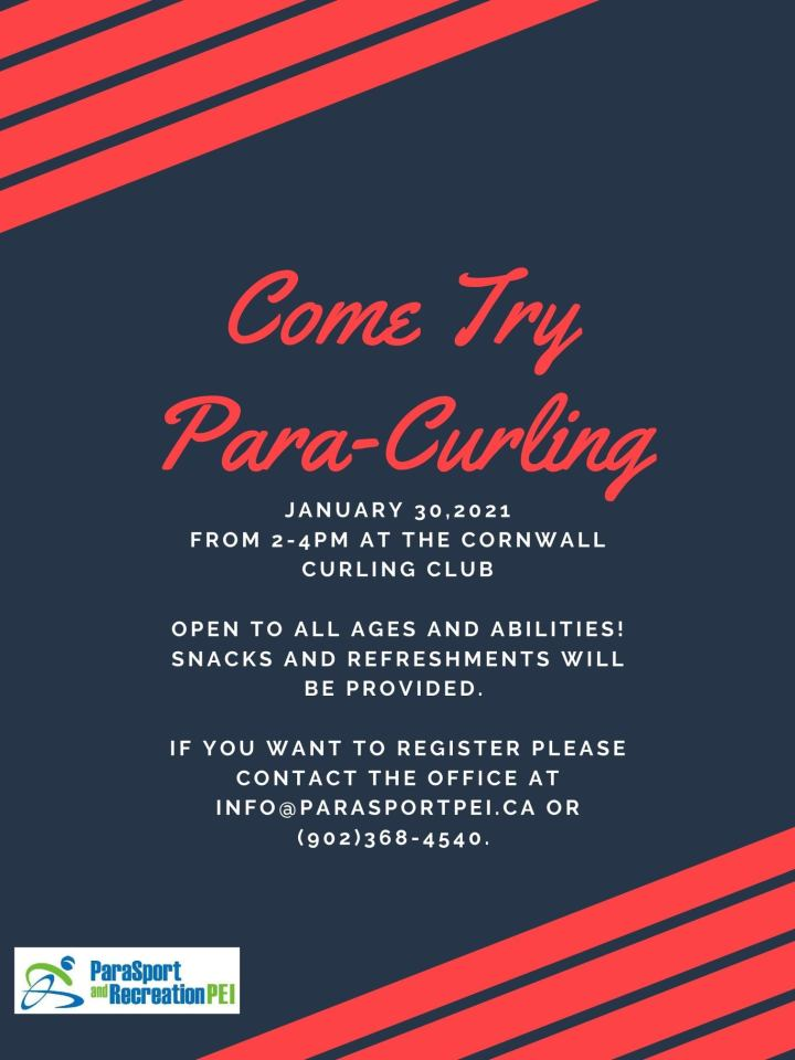Come Try Para-Curling FREE event @ Cornwall Curling Club
