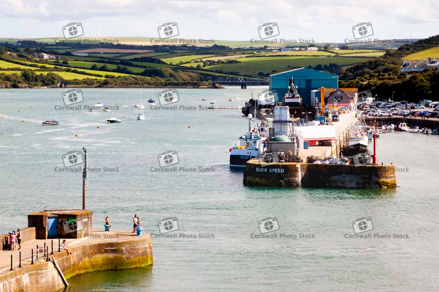 Padstow Harbour Entrance With Lobster Hatchery And Iron Bridge