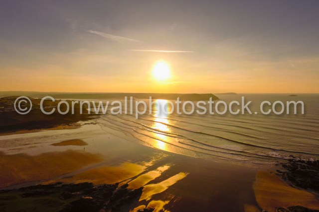 Polzeath Beach Sunset