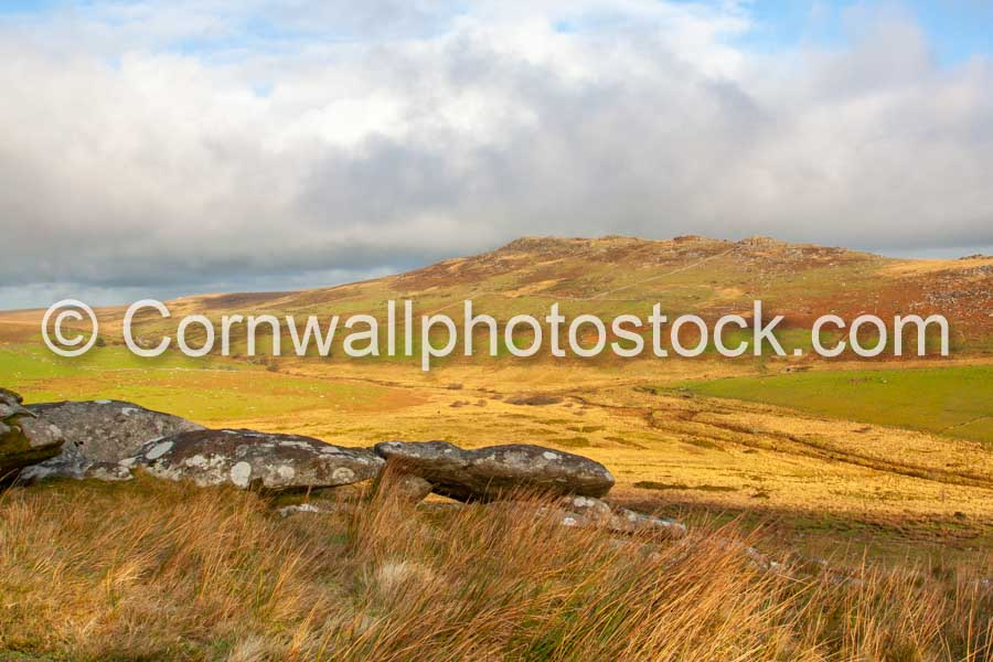 Brown Willy With Rocks And Moorland