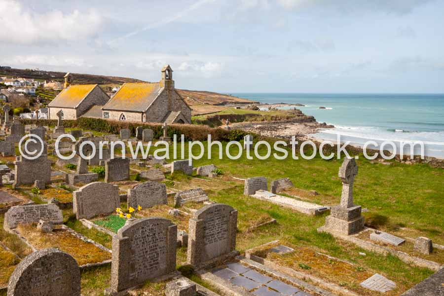 Chapel, Cemetery And Porthmeor Beach