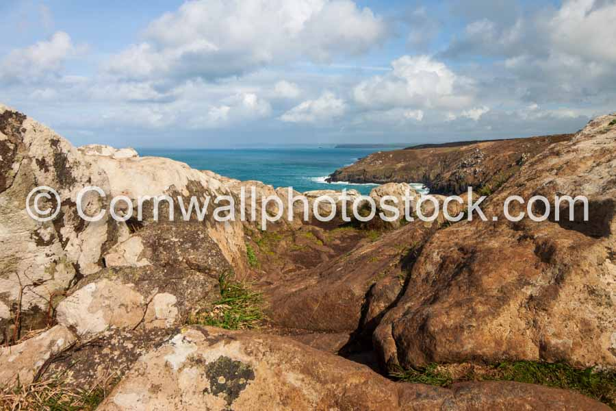 Rocky Foreground On South West Coast Path