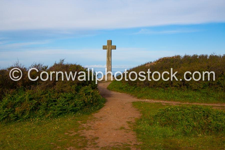 Christian Cross At Dodman Point