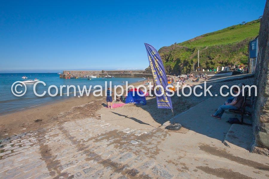 Gorran Haven Beach In Summer Sunshine