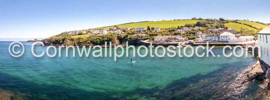 Portmellon Panorama In Clear Blue Skies