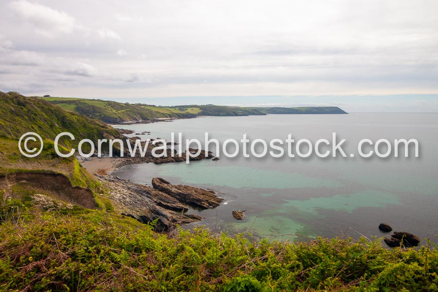 Distant Dodman Point And Foreground Cove