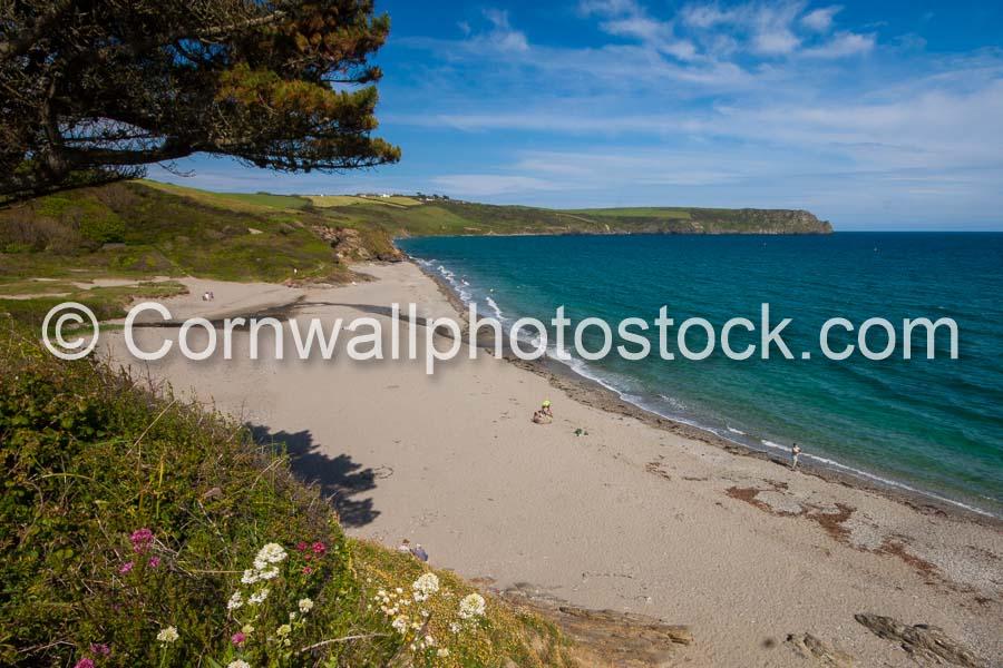 Porthbean Beach In Bright Sunshine