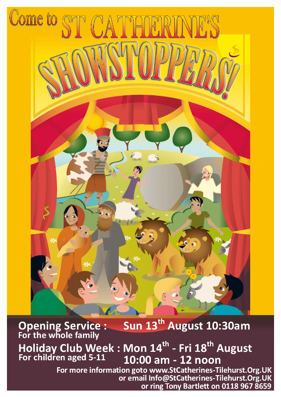 Showstoppers Holiday Club - please register by Friday 21st July
