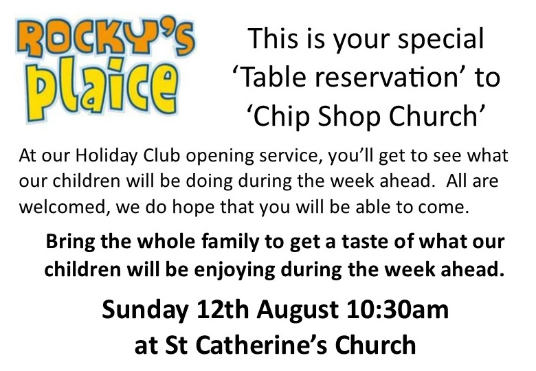 Holiday Club Service at St Catherine's - Sunday 12th August