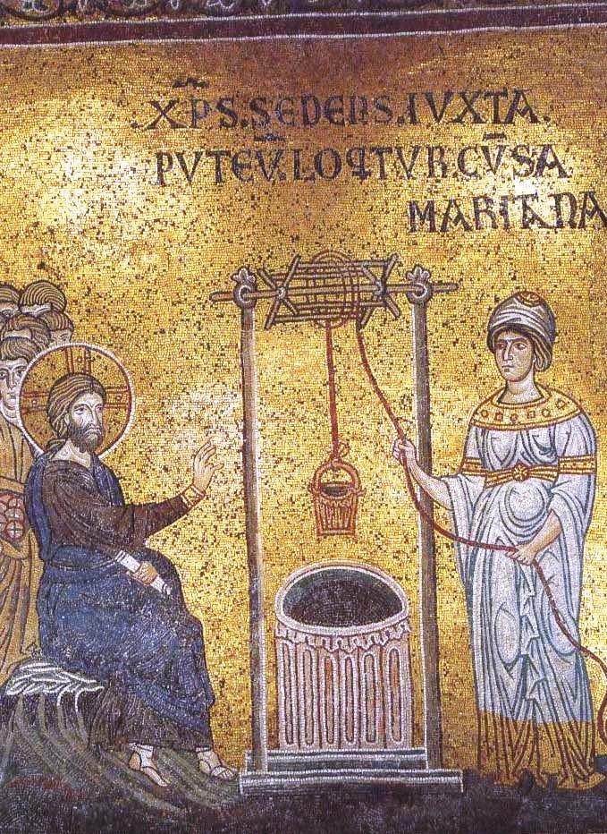 Incontro tra Gesù a la samaritana - Duomo di Monreale