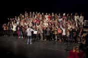 coroinfantilsf 2013 en el XXII Recital de Villancicos. Teatro López de Ayala. Fotografía de Luis Soriano