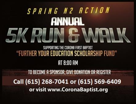 5K Run Walk May 21