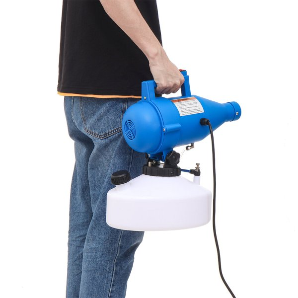 Coronabestdefense - Minleaf 110V/220V 60HZ/50HZ 5L Portable Electric ULV Fogger Flow Adjustable Nebulizer Hotels Residence Community Office Industrial Disinfection Sterilization Insecticide EU/US