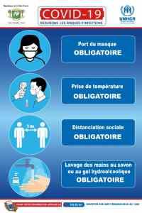 Affiches de sensibilisation et numéro vert de la Côte d'Ivoire