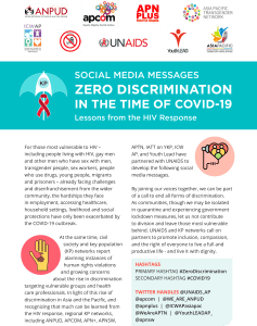 Social media messages: zero discrimination in times of COVID