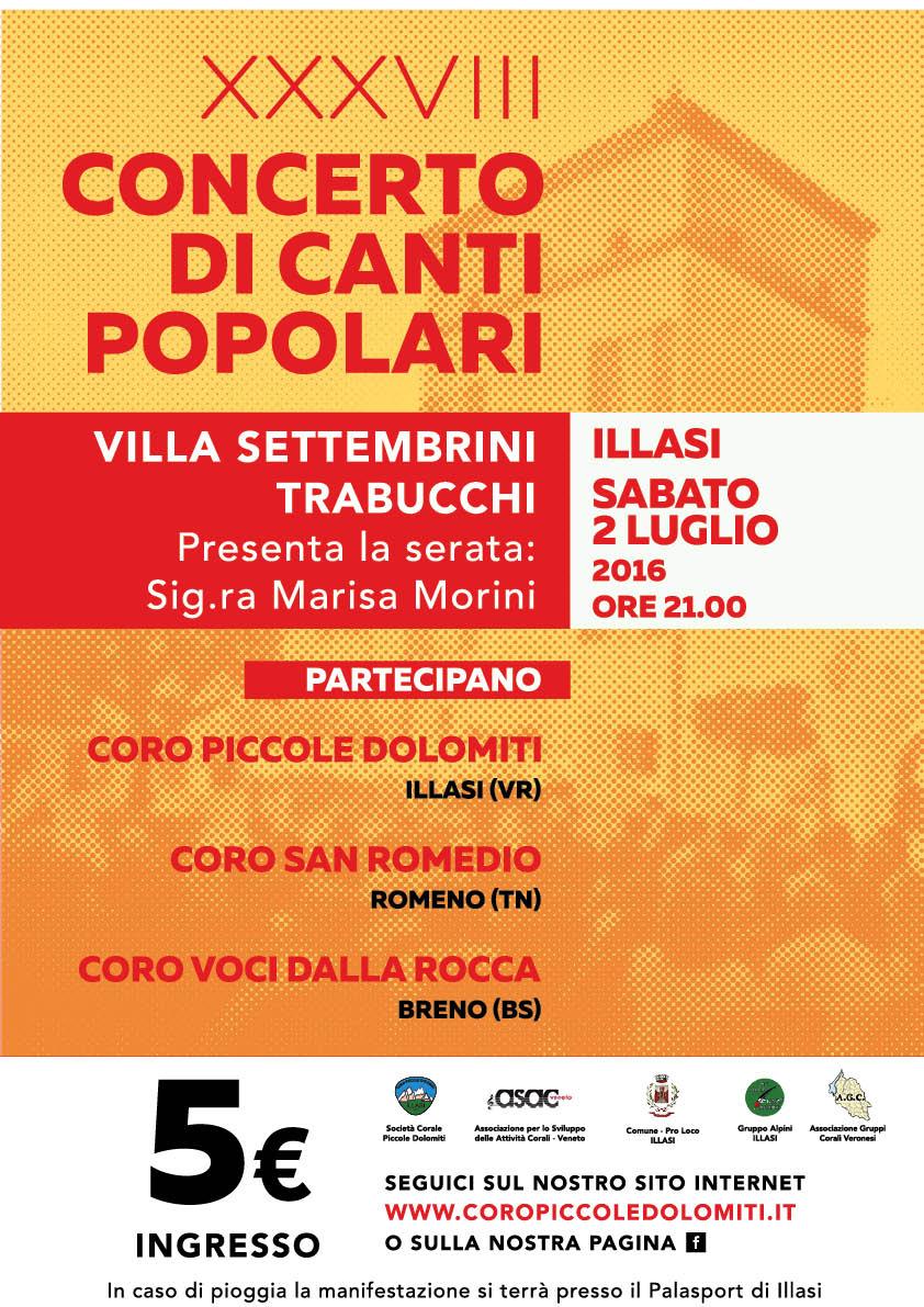 Concerto di Canti Popolari 2016 - Villa Settembrini Trabucchi