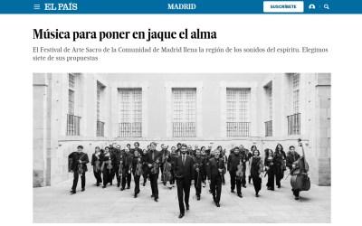 El País: «Música para poner en jaque el alma»
