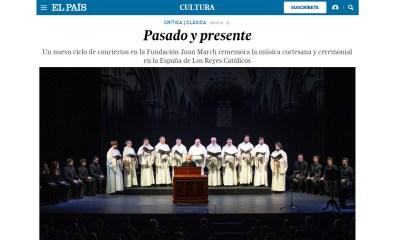 El País: «Pasado y presente»