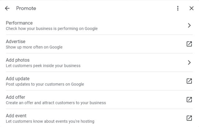 Promote Google My Business Profile