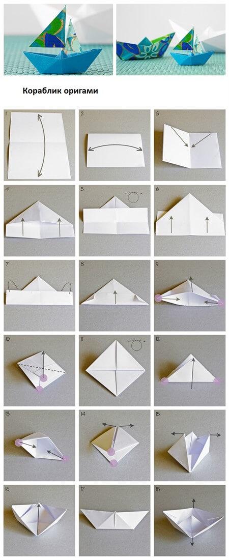 Как сделать кораблик из бумаги? Пошаговые схемы ...