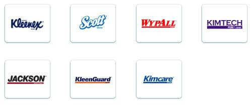 Kimberly-Clark products logos