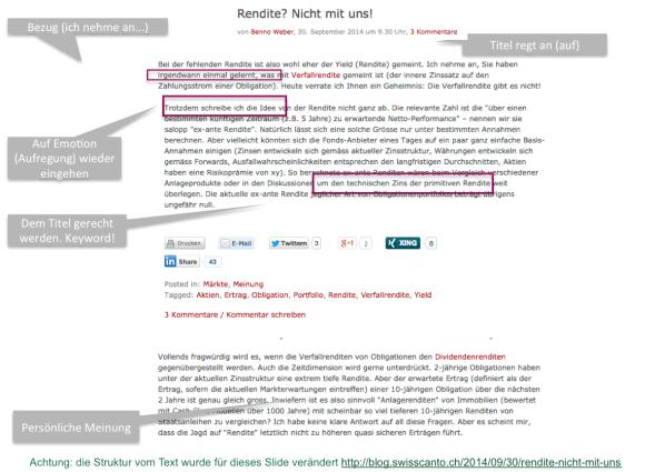 Benno Weber über Rendite im blog.swisscanto.ch
